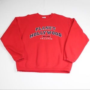 Vintage Planet Hollywood Orlando Spellout Crewneck